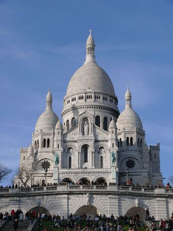 Sacre Coeur, The Sacred Heart Basilica in Paris.