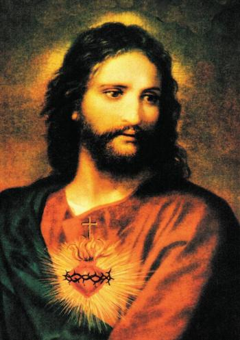 The Sacred Heart of Jesus: an old Catholic devotion.