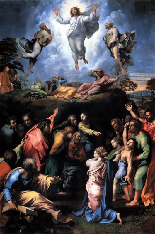 The Transfiguration of Christ, by Raphael.