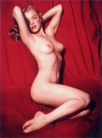 The famous Playboy centerfold of Marilyn Monroe...