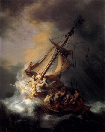 As the Apostles experienced on the sea of Galilee, life often presents us with many storms during which we seek God's comfort.