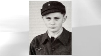 Ratzinger as a member of the Hitler youth. All German boys were forced to join this organization, so there is no moral blame for Ratzinger here.