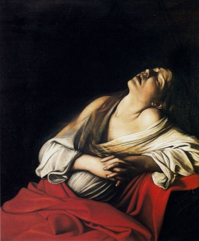The Ecstasy of Mary Magdalene, by Caravaggio.