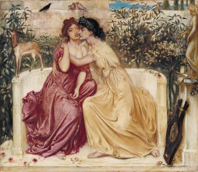 A 19th century notion of Sappho's love life...