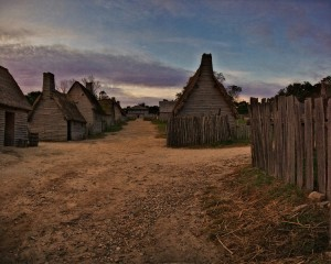 A reconstruction of Plymouth Plantation today...