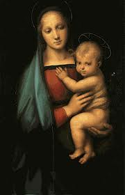 Madonna and Child, by Raphael.