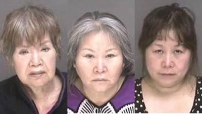Three women arrested in a massage pallor sting: one of them is in her seventies.