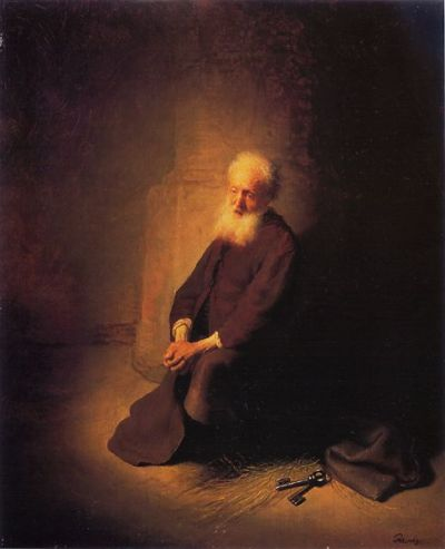 Rembrandt captured so well the spiritual side of life...