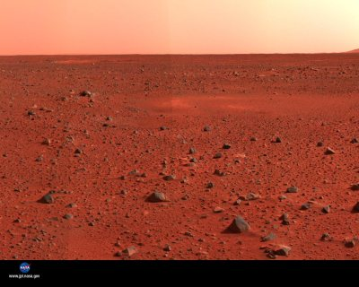 Mars, the Red Planet close up.