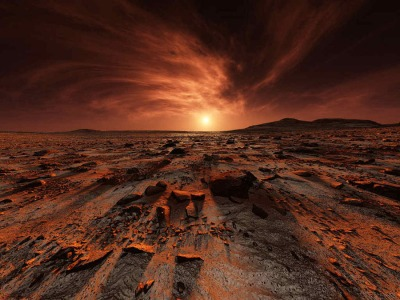 A Martian sunset...