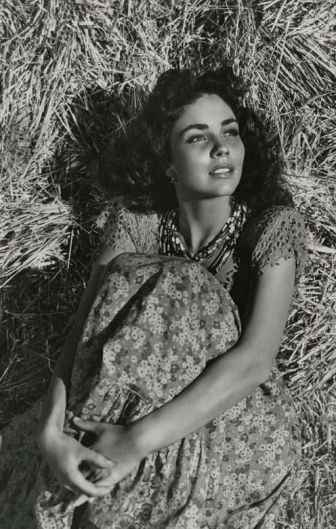 Why is a girl in a hay background so evocative?