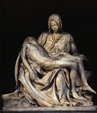 Michelangelo's Pieta, 1498.
