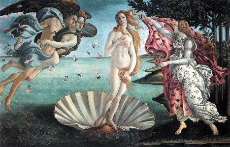The Birth of Venus, by Sandro Botticelli, 1486.