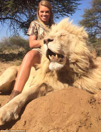 Kendall Jones, Texas Tech cheerleader/big game hunter.