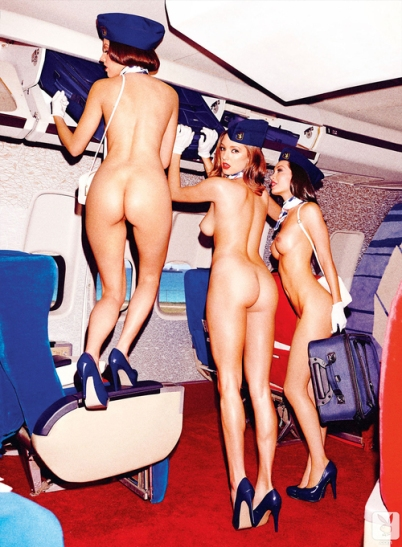 Ah yes, the stewardesses were quite hot in the golden age of air travel..