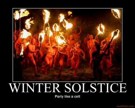Those who live in northern climates have their different traditions of the winter solstice...