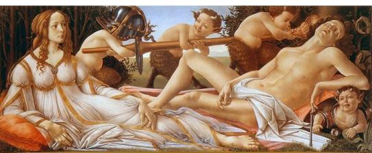 Venus and Mars, by Botticelli, ca. 1483.