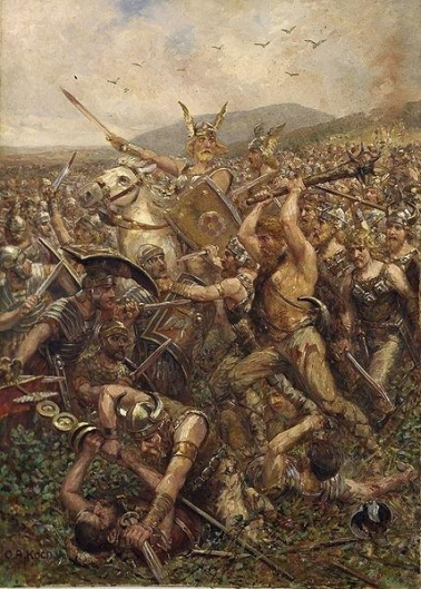 Arminius and his band of Germanic allies massacre the Roman legions of Varus...