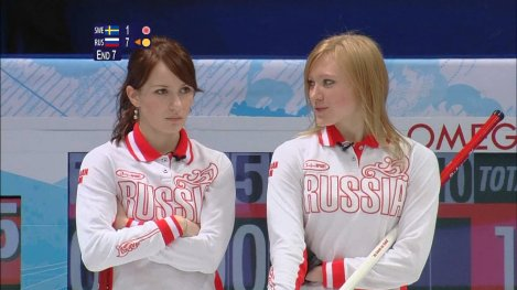 Two of the curling babes on the Russian national team