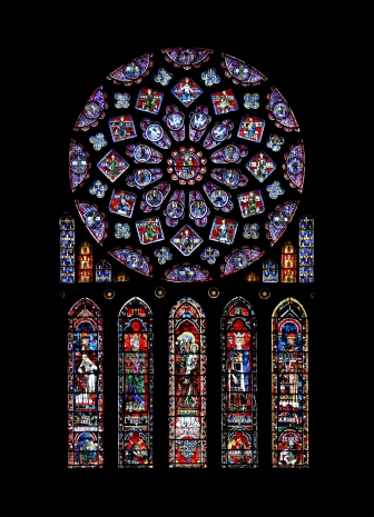 Beautiful example of the fine art of stain glass windows.