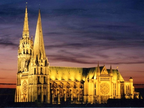 Chartres Cathedral in France.