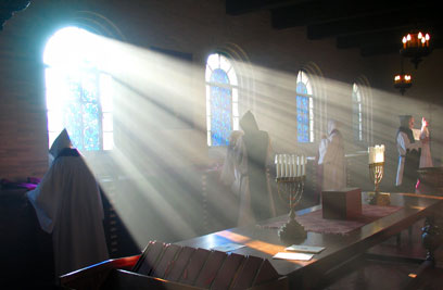 Monastics seeking the Light of Life.