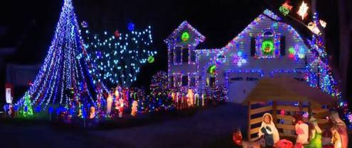 Some people really put quit a bit of effort into their Christmas light displays!
