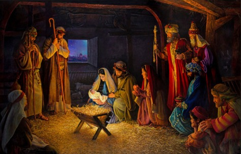 A nice nativity scene, by Greg Olsen.