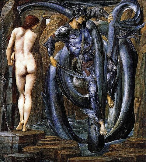 Perseus and Andromeda by the 19th Pre-Raphaelite Edward Burne Jones