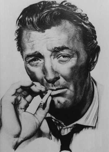 Robert Mitchum, one of the great figures of film noir.