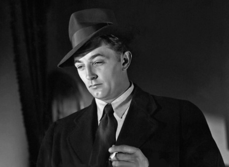 Mitchum in the 1947 noir classic, Out of the Past.