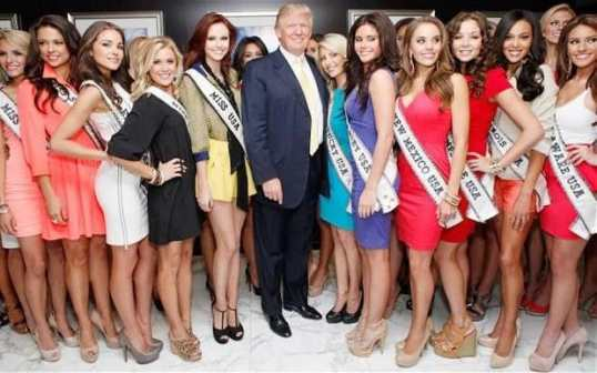 Trump always surrounds himself with hot babes...